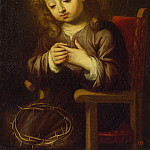 Murillo, Bartolome Esteban. Baby Jesus, Fly Thorns, part 08 Hermitage