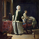 Miris, Frans Jansz van the Elder. Morning young lady, part 08 Hermitage
