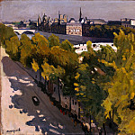 Marquet, Albert. Embankment of the Louvre and the Pont Neuf, part 08 Hermitage
