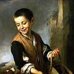 Murillo, Bartolome Esteban. Boy with dog, part 08 Hermitage
