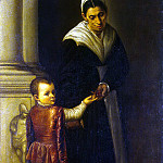 Moretto da Brescia. Portrait of a boy with a babysitter, part 08 Hermitage