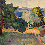 Mangen, Henry Charles. Path in Saint-Tropez, part 08 Hermitage