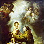 Murillo, Bartolome Esteban. Vision of St. Anthony of Padua, part 08 Hermitage