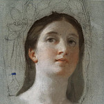 Mengs, Anton Raphael. Study of female head, part 08 Hermitage