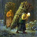 Millet, Jean-Francois. Peasant with brushwood, part 08 Hermitage