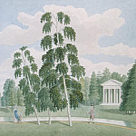 Meader, James. English Park in Peterhof. View from Birch house, part 08 Hermitage