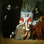 Metsu, Gabriel. Patient and physician, Gabriel Metsu