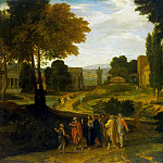 Millet, Jean-Francois, known as Francis. Landscape with Christ and his disciples, part 08 Hermitage
