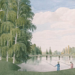 Meader, James. English Park in Peterhof. View from the big birch bridge, part 08 Hermitage