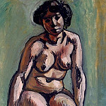Matisse, Henry. Seated Woman, part 08 Hermitage