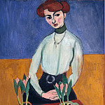 Matisse, Henry. Girl with tulips, Henri Matisse