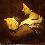 Martinez del Mazo, Juan Bautista. Mother with sleeping baby, Juan Bautista Martinez Del Mazo