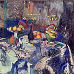 Matisse, Henry. Vase, Bottle and Fruit, Henri Matisse