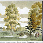 Meader, James. English Park in Peterhof. View from the portico, part 08 Hermitage