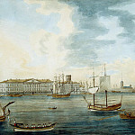 Malton, Thomas Senior. View from the Neva embankment on Vasilevsky Island in the Academy of Sciences, part 08 Hermitage
