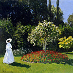 Monet, Claude. Lady in the Garden Sainte-Adresse, Claude Oscar Monet