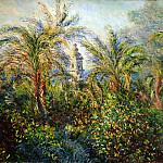 Monet, Claude. Garden in Bordighera, Morning, Claude Oscar Monet
