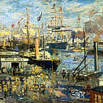 Monet, Claude. Most Quay at Le Havre, part 08 Hermitage