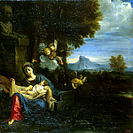 Mola, Pier Francesco. Rest of the Holy Family on the Flight into Egypt, part 08 Hermitage