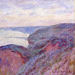Monet, Claude. On the steep banks near Dieppe, Claude Oscar Monet