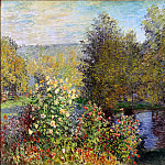 Monet, Claude. Area garden in Montgeron, Claude Oscar Monet