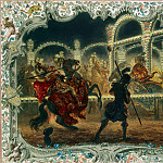 Menzel, Adolf von. Night Carousel, led by Frederick the Great in 1750, part 08 Hermitage