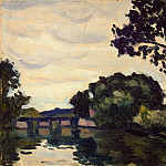 Marquet, Albert. Landscape with bridge, part 08 Hermitage