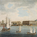 Malton, Thomas Senior. View from the Neva embankment on Vasilevsky Island in the Academy of Fine Arts, part 08 Hermitage