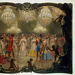 Menzel, Adolf von. Ball at the New Palace. 1829, part 08 Hermitage