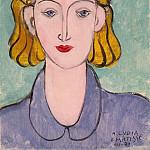 Matisse, Henry. Young woman in blue blouse, part 08 Hermitage