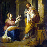 Murillo, Bartolome Esteban. Holy Family, part 08 Hermitage