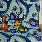 Matisse, Henry. Still Life with a blue tablecloth, part 08 Hermitage