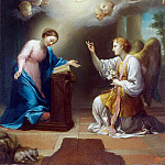 Mengs, Anton Raphael. Annunciation, part 08 Hermitage