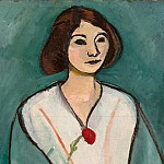 Matisse, Henry. The lady in green, part 08 Hermitage