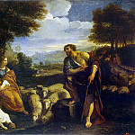 Mola, Pier Francesco. The meeting of Jacob with Rachel, part 08 Hermitage