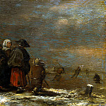 part 08 Hermitage - Molenaar, Jan Minzah. Winter landscape with a windmill