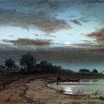 Melba, Anton. River on a moonlit night, part 08 Hermitage