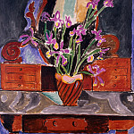 Matisse, Henry. Vase with irises, part 08 Hermitage