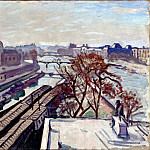 Marquet, Albert. View of the Seine and the monument to Henry IV, part 08 Hermitage