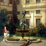 Mare, Hans von. Yard with a grotto in the Munich Royal Residence, part 08 Hermitage