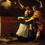 Murillo, Bartolome Esteban. The murder of the Inquisitor Pedro de Arbuesa, part 08 Hermitage