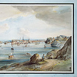 Martin Johann Fredrik. View of Stockholm from Lake Malaren, part 08 Hermitage