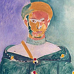 Matisse, Henry. Located in Moroccan green dress, Henri Matisse