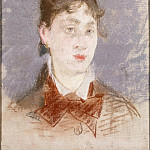 Manet, Edouard. A girl in a dress with a dog-eared collar, part 08 Hermitage