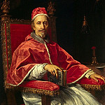 Maratti, Carlo. Portrait of Pope Clement IX, part 08 Hermitage