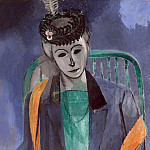 Matisse, Henry. Portrait of the Artists Wife, part 08 Hermitage