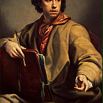 Mengs, Anton Raphael. Self-portrait, part 08 Hermitage