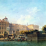 Bonstedt, Louis Franz Karl – Neva Embankment near the western facade of the Winter Palace, part 02 Hermitage