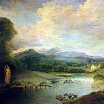part 02 Hermitage - Antoine Watteau - Landscape with waterfall