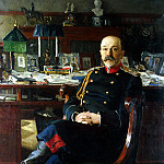 part 02 Hermitage - Bogdanov-Belsky Nikolai Petrovich - Portrait of the Adjutant-General PP Hesse